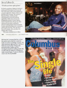 Columbus Monthly (2000) - Single Life - Jerry Calliste Jr.